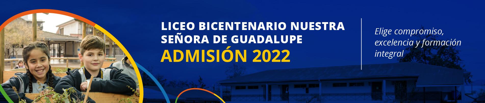 admisión 2022 liceo bicentenario nuestra señora de guadalupe